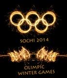L'olympiade Sotchi Russie de 2014 hivers Images libres de droits