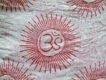 L'OM sur le tissu Photo libre de droits