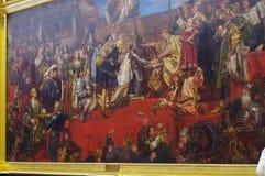 L'omaggio prussiano, un olio sulla pittura della tela dal pittore polacco Jan Matejko Fotografia Stock Libera da Diritti