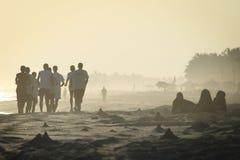 l'Oman : durée en plage de Salalah images stock