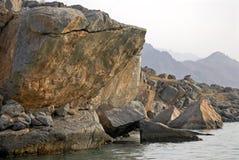 L'Oman Montagne Rocciose immagini stock libere da diritti