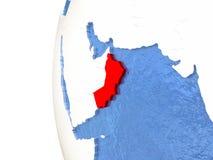 L'Oman sur le globe Image libre de droits
