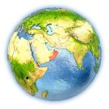 L'Oman sur le globe d'isolement illustration stock