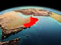 L'Oman sur terre de planète dans l'espace Image libre de droits