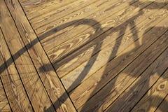 L'ombra del ciclista Fotografia Stock Libera da Diritti
