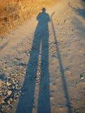 L'ombra del fotografo Fotografia Stock