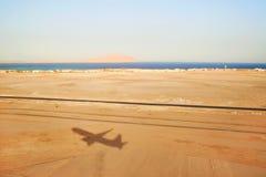 L'ombra dell'aereo Immagine Stock Libera da Diritti