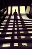 L'ombra dell'uomo Fotografie Stock Libere da Diritti