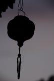 L'ombra della lanterna di carta minuscola Immagini Stock