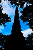 L'ombra di un pagoda Fotografie Stock