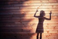 L'ombra di una giovane donna Fotografia Stock Libera da Diritti