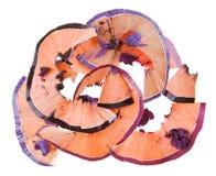 L'ombre d'oeil cassée crayonne des débris (les scobs) image libre de droits