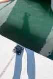 L'ombre d'un photographe Image stock