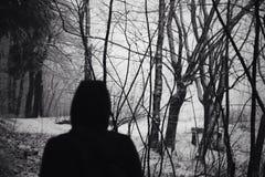 L'ombre de l'étranger Photo libre de droits