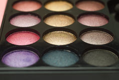L'ombre de palette observe le maquillage Images stock