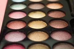 L'ombre de palette observe le maquillage Images libres de droits