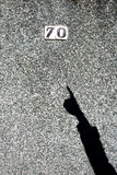 L'ombre de sa main Image libre de droits