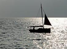 L'ombre des sailorman au coucher du soleil Images stock