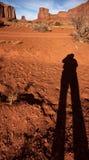 L'ombre du photographe en vallée de monument Photos libres de droits