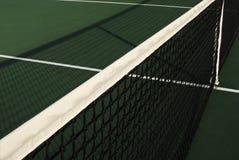 L'ombre du réseau de tennis Photographie stock