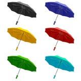 L'ombrello dell'insieme. Isolato su priorità bassa bianca Fotografia Stock Libera da Diritti