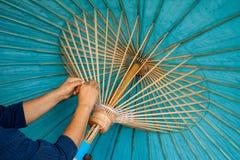 L'ombrello ha fatto la carta della forma Fotografia Stock Libera da Diritti