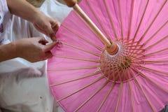 L'ombrello ha fatto la carta della forma Immagine Stock Libera da Diritti