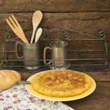 L'omelette d'Espagne a appelé tortilla de patatas Photo stock