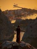 L'Omis-Croatie-Dalmatie Image stock