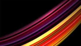 L'onda astratta allinea le bande fluide di colore Fotografia Stock