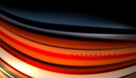 L'onda astratta allinea le bande fluide di colore Fotografie Stock Libere da Diritti