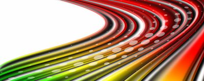 L'onda d'ardore variopinta, l'energia magica e la luce fanno segno al fondo fotografia stock