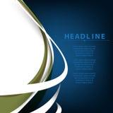 L'onda pulita di vettore ha piegato le linee elementi sul fondo blu e bianco di affari Immagine Stock