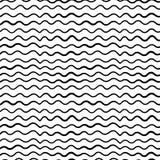 L'onda senza cuciture di tiraggio della mano allinea il modello Rebecca 36 royalty illustrazione gratis