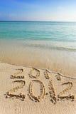 L'onde 2012.The neuve enlève une inscription 2011. Photographie stock