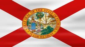 L'ondeggiamento della bandiera dello stato di Florida, aspetta per il ciclo senza cuciture royalty illustrazione gratis
