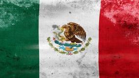 L'ondeggiamento della bandiera vecchia del Messico, aspetta per il ciclo senza cuciture royalty illustrazione gratis