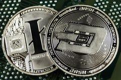 L'ondulazione è un modo moderno dello scambio e di questa valuta cripto immagine stock libera da diritti