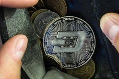 L'ondulazione è un modo moderno dello scambio e di questa valuta cripto immagine stock