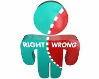 L'onestà falsa della giusta o verità sbagliata si trova persona Fotografie Stock