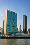 L'ONU acquartiera, Manhattan, New York, verticale Fotografia Stock