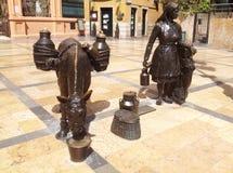 L'ONU Oviedo de place de Trascorrales Images libres de droits