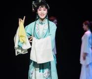 """L'opéra bleu de domestique-Jiangxi de robe """"Red le  de pearl†Photographie stock libre de droits"""