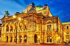L'opéra d'état de Vienne est un théatre de l'opéra photographie stock libre de droits