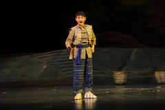 L'opéra de Jiangxi de la jeunesse de nationalité de Han une balance Photographie stock