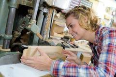 L'opérateur en bois photographie stock