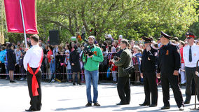 L'opérateur enlève le défilé consacré Photos libres de droits