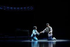 L'opera illuminata dalla luna del Jiangxi di conversazione di notte una stadera Immagine Stock