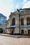 L'opera nazionale dell'Ucraina, Kiev Fotografia Stock Libera da Diritti