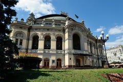 L'opera nazionale dell'Ucraina, Kiev Fotografia Stock